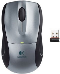 Logitech V450 Nano Cordless Laser Mouse for Notebooks silver, USB (910-000855)