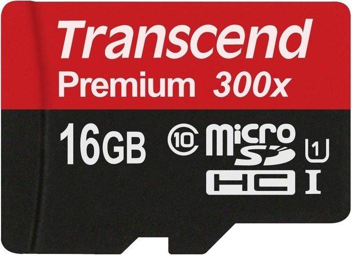 Transcend R45 microSDHC Premium 16GB, UHS-I, Class 10 (TS16GUSDCU1)