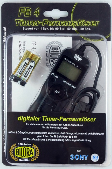 Bilora FB4-S1 Digitaler Timer-Fernauslöser für Sony -- via Amazon Partnerprogramm