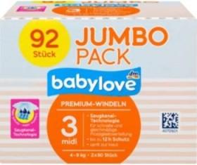 Babylove Premium Gr.3 midi Einwegwindel, 4-9kg, 92 Stück
