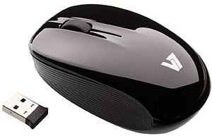 V7 2.4GHZ wireless Optical Mouse black, USB (M32N00-7E)