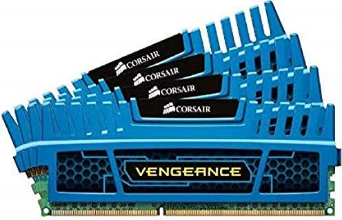 Corsair Vengeance blau DIMM Kit  16GB, DDR3-1600, CL9-9-9-24 (CMZ16GX3M4A1600C9B) -- via Amazon Partnerprogramm