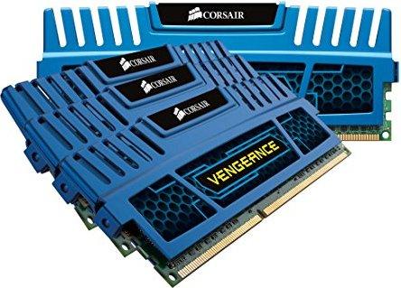 Corsair Vengeance blau DIMM Kit 16GB, DDR3-1600, CL9-9-9-24 (CMZ16GX3M4A1600C9B) -- via Amazon Partnerprogramm