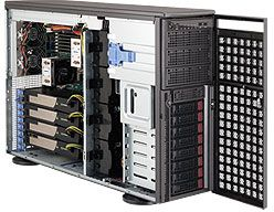 Supermicro 747TG-R1400B-SQ schwarz, 1400W redundant