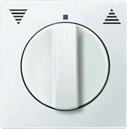 Merten System M Zentralplatte Thermoplast edelmatt, polarweiß (569819)