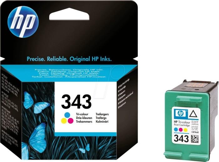 HP 343 Druckkopf mit Tinte farbig (C8766EE)