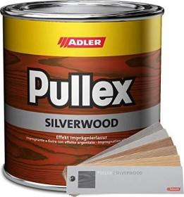 Adler Pullex Silverwood Holz-Lasur außen Holzschutzmittel graualuminium, 750ml (5050607)