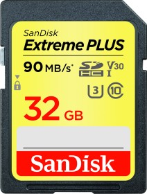 SanDisk Extreme PLUS R90/W60 SDHC 32GB, UHS-I U3, Class 10 (SDSDXWF-032G-GNCIN)