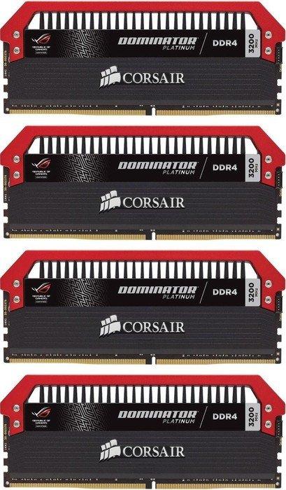 Corsair Dominator Platinum - ROG Edition DIMM Kit 32GB, DDR4-3200, CL16-18-18-36 (CMD32GX4M4C3200C16-ROG)