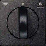 Merten System M Zentralplatte Thermoplast edelmatt, anthrazit (569814)