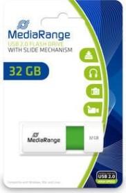 MediaRange USB Speicherstick Color Edition 32GB weiß/grün, USB 2.0 (MR973)