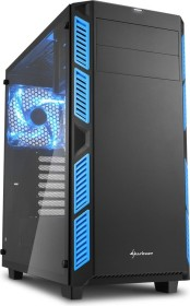 Sharkoon AI7000 Glass blau, Glasfenster