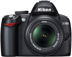 Nikon D3000 (SLR) with lens AF-S VR DX 18-55mm 3.5-5.6G (VBA250K001)