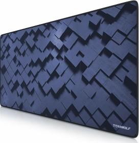 Titanwolf Cubes XXL Speed Gaming-mousepad, black/blue (7230363172)