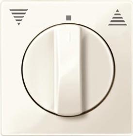 Merten System M Zentralplatte Thermoplast brillant, weiß (567144)