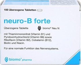 biomo pharma neuro-B forte coated tablets, 100 pieces