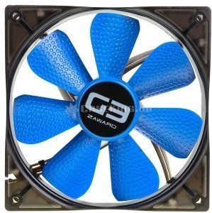 Zaward Golf Fan G3 blue, 140mm, 1500rpm (ZG3-140D) -- (c) caseking.de