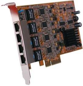 Exsys EX-6074, 4x RJ-45, PCIe x4