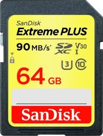 SanDisk Extreme PLUS R90/W60 SDXC 64GB, UHS-I U3, Class 10 (SDSDXWF-064G-GNCIN)
