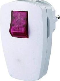 GAO EMP100SWL schuko plug Angle connector with Switches (illuminated), white