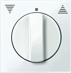 Merten System M Zentralplatte Thermoplast brillant, polarweiß (567119)