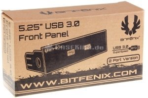 BitFenix 2x USB 3.0 Softouch front panel black, 5.25