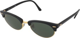 Ray-Ban RB3946 Clubmaster Oval Legend Gold 52mm black/green classic (RB3946-130331)
