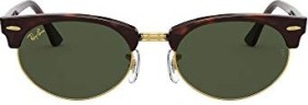 Ray-Ban RB3946 Clubmaster Oval Legend Gold 52mm mock tortoise/green classic (RB3946-130431)