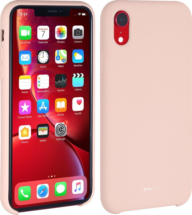 new style 97a37 4bff1 Stilgut liquid Silicone case for Apple iPhone XR sand pink (B07GYQ34P4)