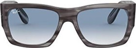 Ray-Ban RB2187 Nomad 54mm striped grey/light blue gradient (RB2187-13143F)
