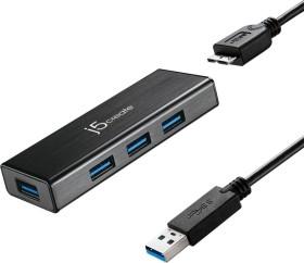 j5create Mini USB-Hub, 4x USB-A 3.0, USB 3.0 Micro-B [Buchse] (JUH340)