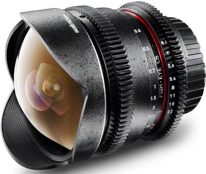 Walimex Pro 8mm 3.8 Fisheye II VDSLR für Canon EF schwarz (18709)