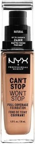 NYX Can't Stop Won't Stop Foundation buff, 30ml