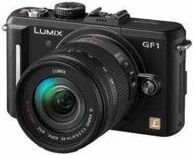 Panasonic Lumix DMC-GF1 schwarz mit Objektiv Lumix G Vario 14-45mm 3.5-5.6 OIS (DMC-GF1K)