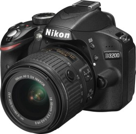 Nikon D3200 schwarz mit Objektiv AF-S VR DX 18-55mm 3.5-5.6G II (VBA330K009)