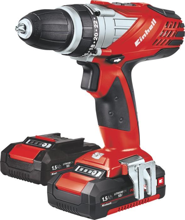 Einhell TE-CD 18 Li cordless screw driller incl. case + 2 Batteries 1.5Ah (4513687)