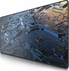 Titanwolf Circuit board XXL Speed Gaming-mousepad, black/blue (7230367072)