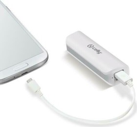 Celly Powerbank H24 2600 weiß (PB2600WH)