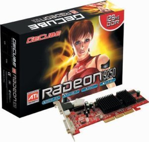 GeCube Radeon 9250 X-Value, 128MB DDR, DVI, TV-out, low profile AGP (GC-R9250LP-C3H)