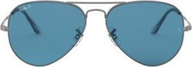 Ray-Ban RB3689 62mm gunmetal-gold/blue gradient (RB3689-004/S2)