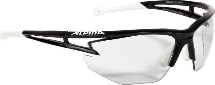 Alpina Sonnenbrille Performance EYE-5 HR VL+, black matt-white, A8531131