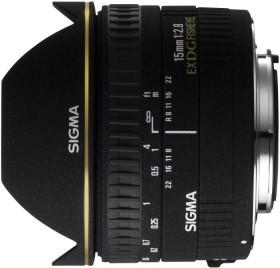 Sigma AF 15mm 2.8 EX DG Diagonal Fisheye für Canon EF schwarz (476927)