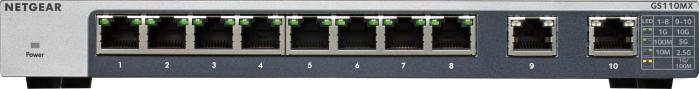 Netgear GS110 Desktop Gigabit Switch, 10x RJ-45 (GS110MX-100)