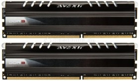 Avexir Core Series LED blau DIMM Kit 8GB, DDR3-1600, CL9-9-9-24 (AVD3U16000904G-2CW)