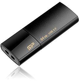 Silicon Power Blaze B05 schwarz 32GB, USB-A 3.0 (SP032GBUF3B05V1K)