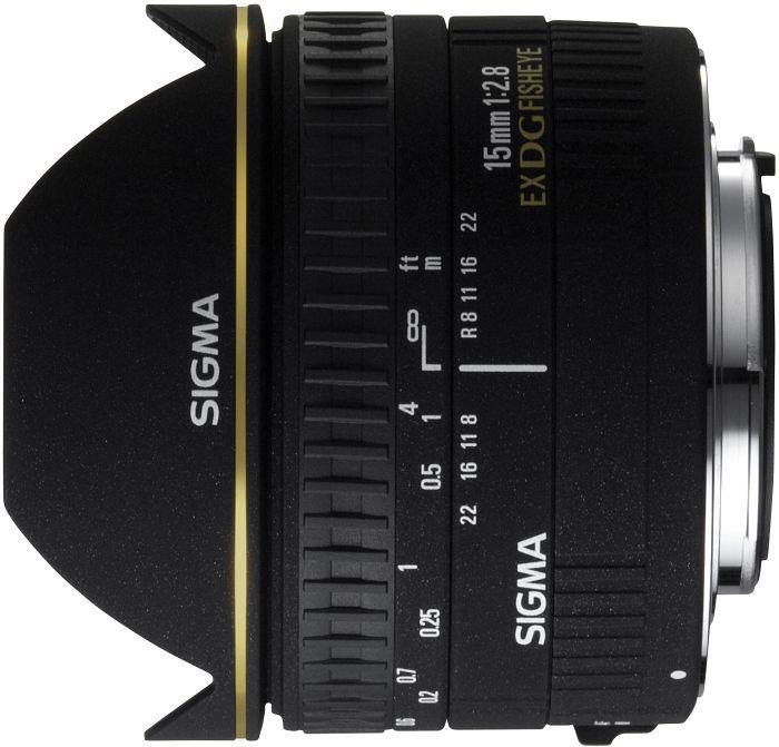 Sigma AF 15mm 2.8 EX DG Diagonal Fisheye für Sony A schwarz (476934)