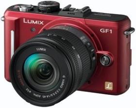 Panasonic Lumix DMC-GF1 rot mit Objektiv Lumix G Vario 14-45mm 3.5-5.6 OIS (DMC-GF1K)