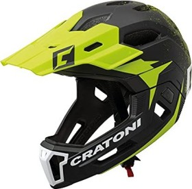 Cratoni C-Maniac Fullface-Helm black/lucentgreen matt (112417C1/112417C2/112417C3)