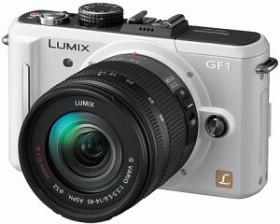 Panasonic Lumix DMC-GF1 weiß mit Objektiv Lumix G Vario 14-45mm 3.5-5.6 OIS (DMC-GF1K)