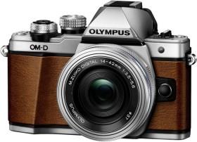 Olympus OM-D E-M10 Mark II braun mit Objektiv M.Zuiko digital 14-42mm EZ
